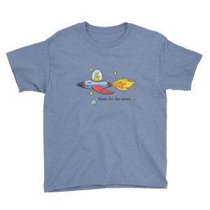 Shoot for the moon kid's t-shirt | Think Doodle Do