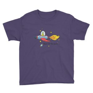 Shoot for the moon kid's t-shirt   Think Doodle Do