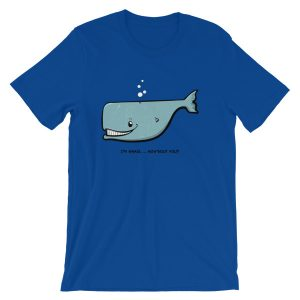 Cartoon whale design t-shirt