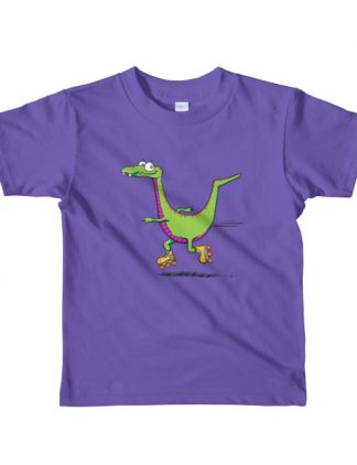 Velociraptor on wheels t-shirt